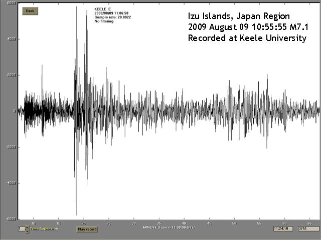Izu Islands 9 August 2009 recorded at Keele University