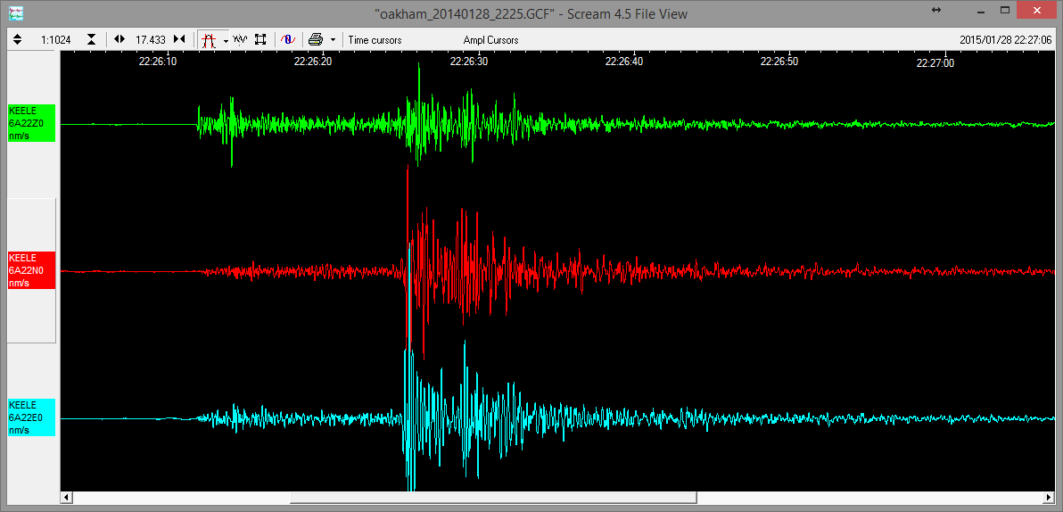 Oakham Earthquake
